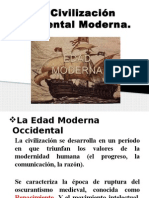 Civilización Occidental Moderna. Reforma Protestante