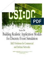 Building Realistic Application Models for Discrete Event Simulation for Opnet