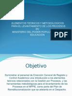 Metodología de los procesos organizativos del MPPE