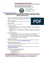 Tangazo masomo LITA 2015 Diploma in Dairy Technology December 2014 2