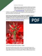 Centros de Mesa Para Boda Con Flores Rojas