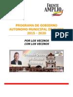 Programa PAIS Gonzalo Quiroga