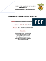 Manual de Valuacion de Puestos