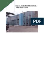Informe Del Viaje Al Instituto Hidráulico Del Peru