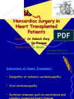 Noncardiac Surgery in Heart Transplanted Patient