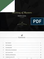 Backes & Strauss - Meeting of Masters Training Manual 2015 - Harrods
