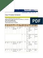 schedule spring 2015