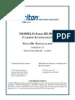 07100-00019B - Triton RL5000 Installation Guide (2.0) Spanish