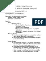 Bishop's Committee Minutes, August 24, 2014