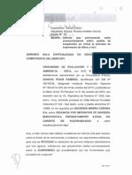 Escrito Que El OEFA Ha Presentado Ante El INDECOPI