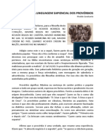 A Linguagem Sapiencial Dos Provérbios - Rivaldo Cavalcante