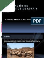 Clasificación de Fragmentos de Roca y Suelo