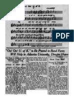 1926-27 University of Kentucky Wildcat Marching Band