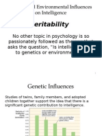 genetic and environmental influences on intelligence