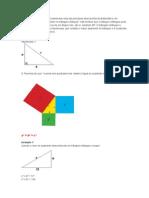 O Teorema de Pitágoras.