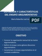 Definición y características del ensayo argumentativo