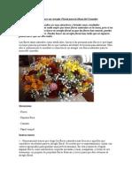Cómo Hacer Un Arreglo Floral Para La Mesa Del Comedor
