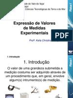 2 - Expressão de Valores de Medidas Experimentais#