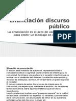 Enunciación Discurso Público y Tipos de Discurso