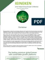 Heineken CAGE 2015 investor presentation slide deck ppd pdf