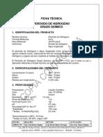 MSDS del peroxido de hidrogeno