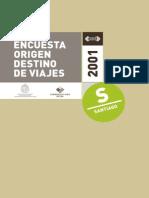 Encuesta Origen Destino 2001 Santiago- Informe_Difusion