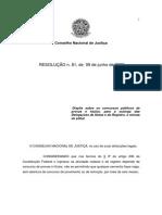 Resoluçãoo 81 CNJ