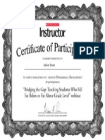 certificate for bridging the gap training