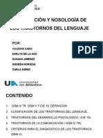 CLASIFICACIÓN Y NOSOLOGÍA DE LOS TRASTORNOS DEL LENGUAJE (1) GRUPO 5.pptx