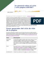 Información General Sobre El Ciclo de Vida de Una Página ASP