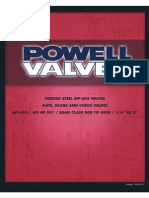 Powell API602 Forged Steel Valve