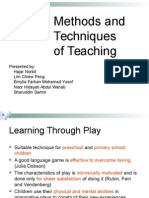 Method and Technwefwefiques of Teaching