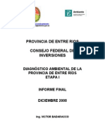 Diagnostico Ambiental de Entre Rios