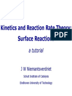 Reaction Rate Theory of Surface Reactions