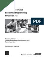 Basic Drive Programing - PF753