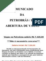 Vc está selecionada p PETROBRÁS