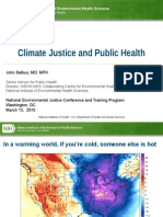 Climate Justice and Public Health
