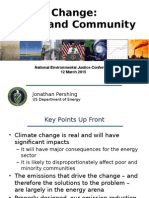 Climate Change:Energy and Community Impacts
