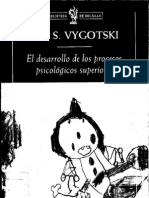 El Desarrollo de Los Procesos Psicologicos Superiores. Barcelona, Critica