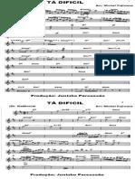 TÃ-+DIFÃ-CIL+_+GRUPO+KADÃ-NCIA+(PARTITURA)-1