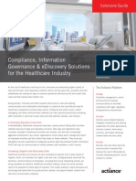 Compliance, Information Governance & eDiscovery Solutions for the Healthcare Industry
