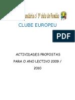PLANO DE ACTVIDADES09 2010