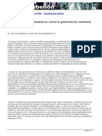 Desobediencia vs Globalizacion