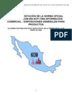 Guia de Orientacion de La Norma Oficial Mexicana Nom 050 Scfi