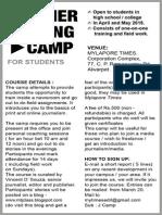 Summer Writing Camp / 2015