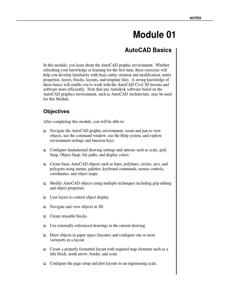 AutoCAD Basics | Auto Cad | Technical Drawing