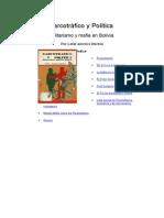 Narcotráfico y Política, militarismo y mafia
