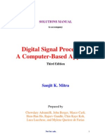 Digital Signal Processing (Solution Manual) - 3rd Edition by Mitra