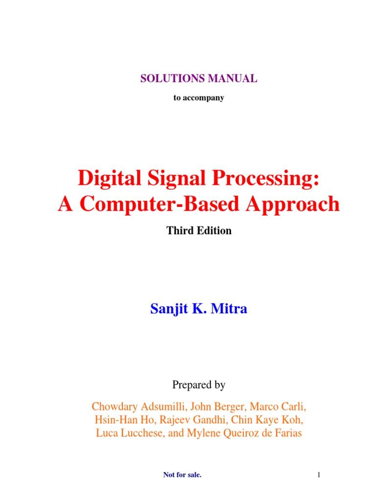 Digital Signal Processing (Solution Manual) - 3rd Edition by Mitra |  Summation | Series (Mathematics)