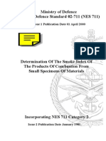 NES 711 Determination of the Smoke Index of the Products of Combustion From Small Specimens of Materials Category 2